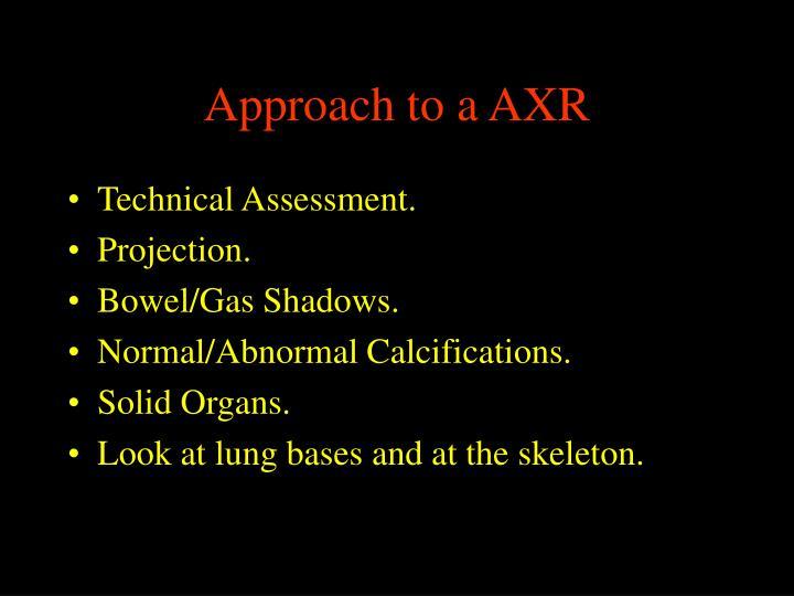 Approach to a AXR