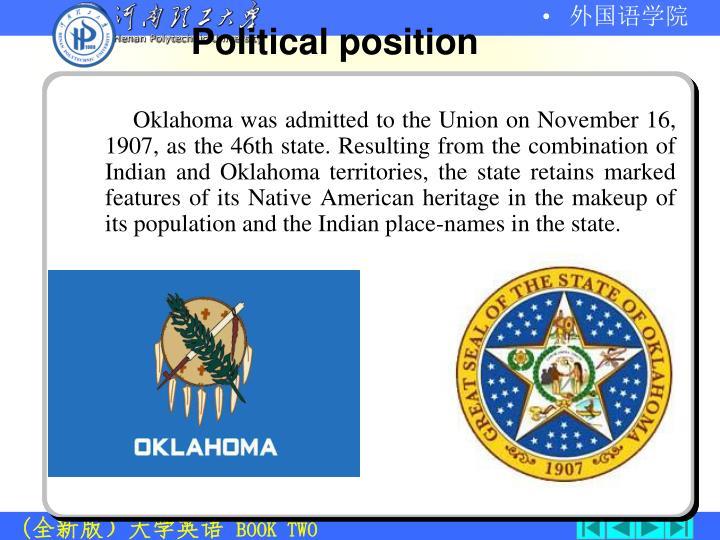 Political position