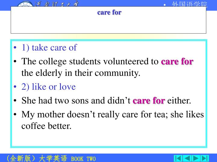 1) take care of