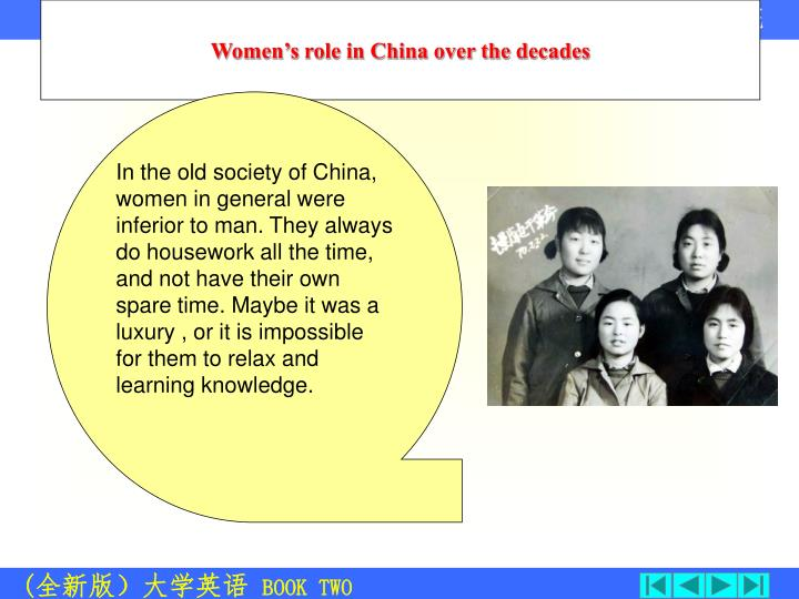 Women's role in China over the decades