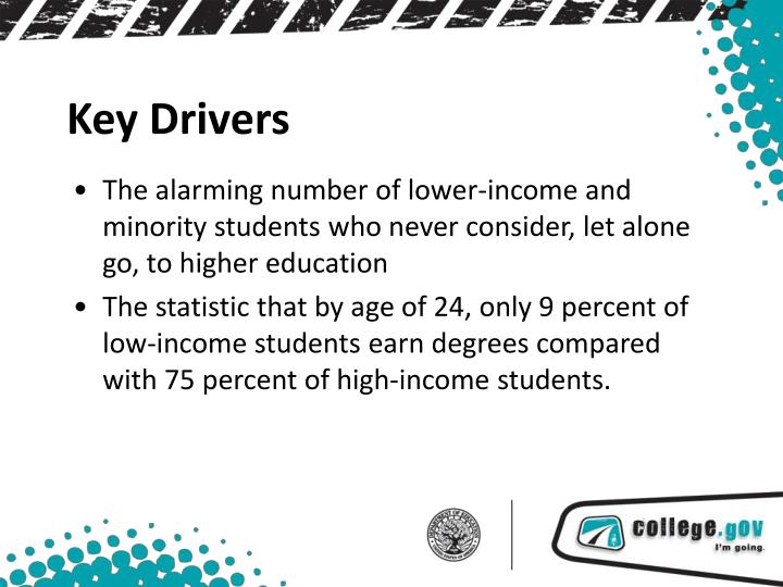 The alarming number of lower-income and minority students who never consider, let alone go, to higher education