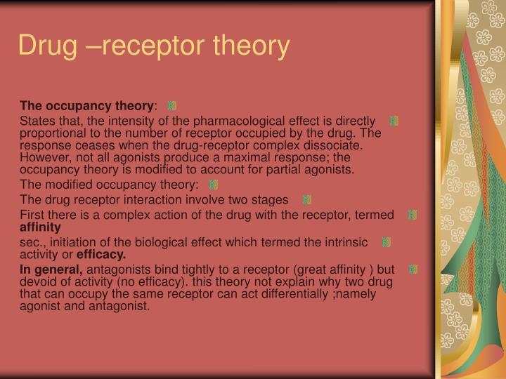 drug receptor interaction theory pdf