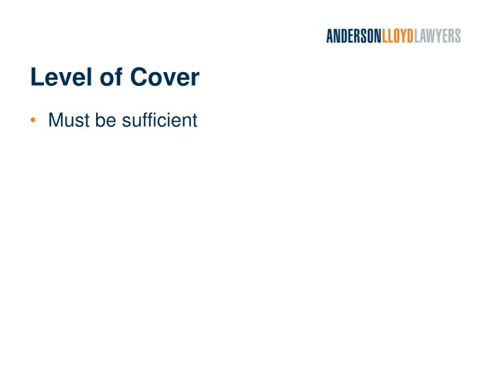 Level of Cover