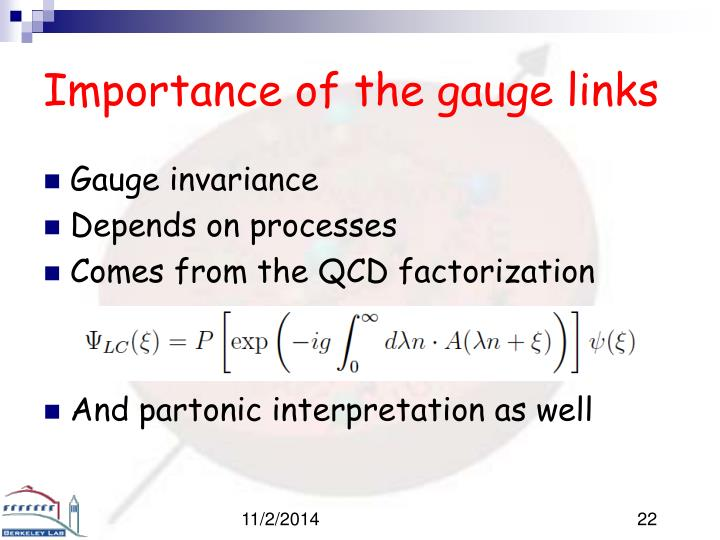 Importance of the gauge links