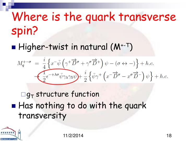 Where is the quark transverse spin?