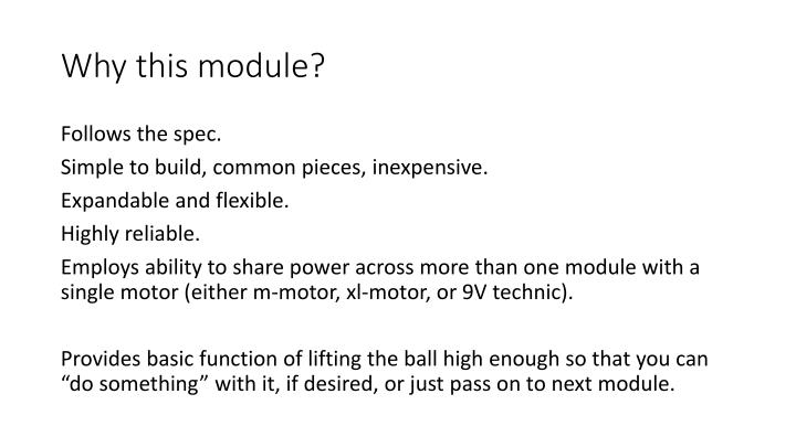 Why this module?