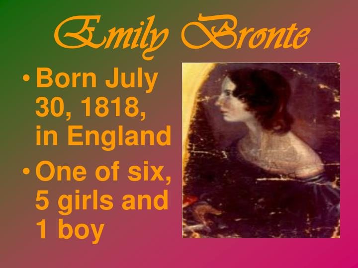 Born July 30, 1818, in England
