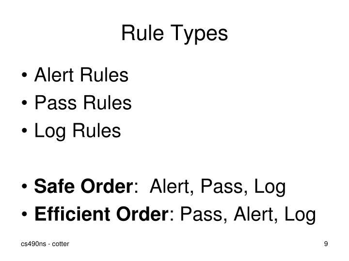 Rule Types