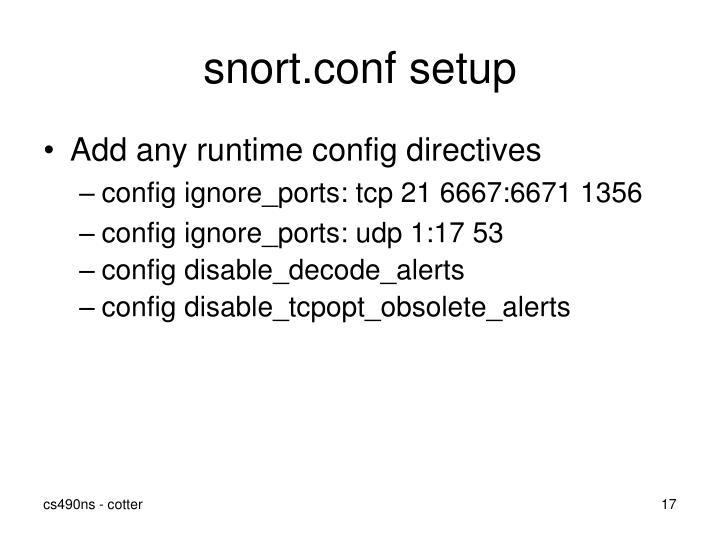 snort.conf setup