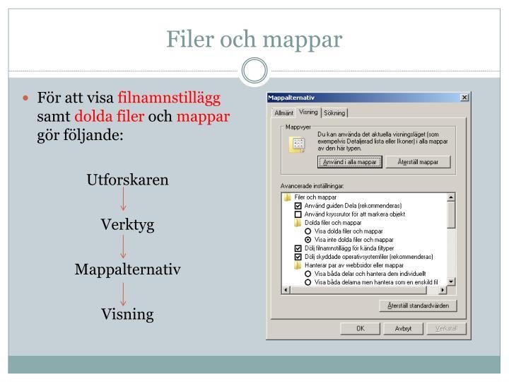 Filer och mappar