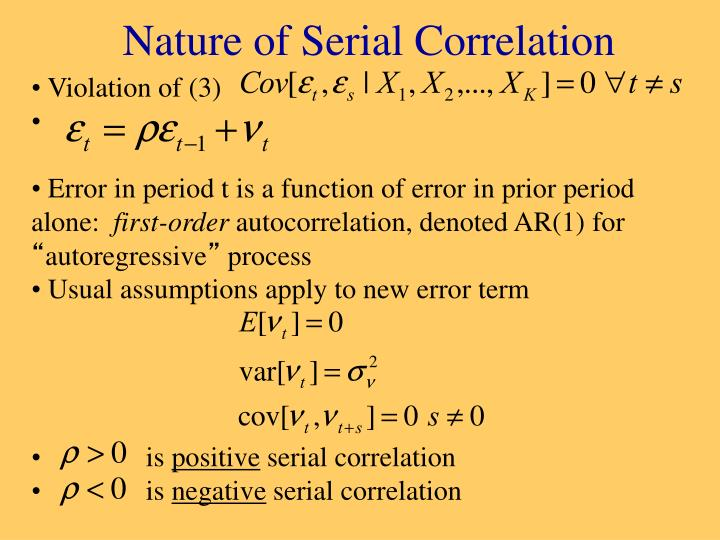 Nature of serial correlation
