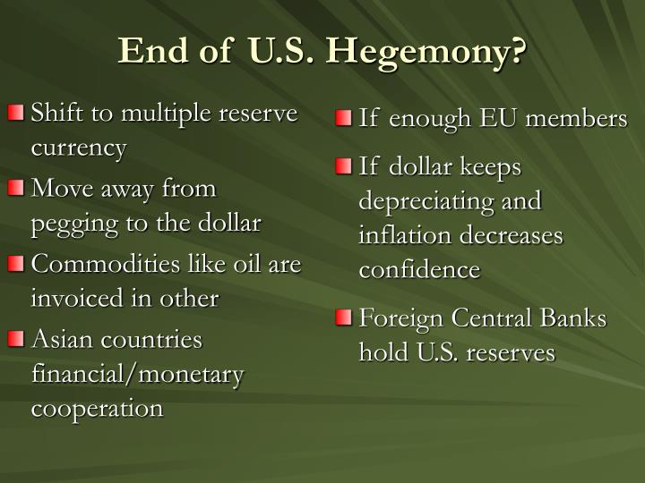 Shift to multiple reserve currency