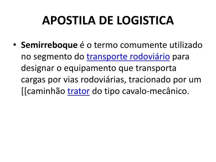 APOSTILA DE LOGISTICA