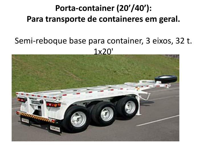 Porta-container (20'/40'):