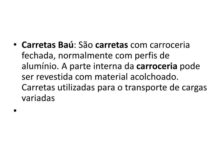 Carretas Baú