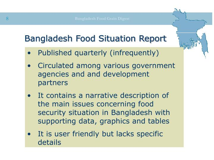Bangladesh Food Situation Report