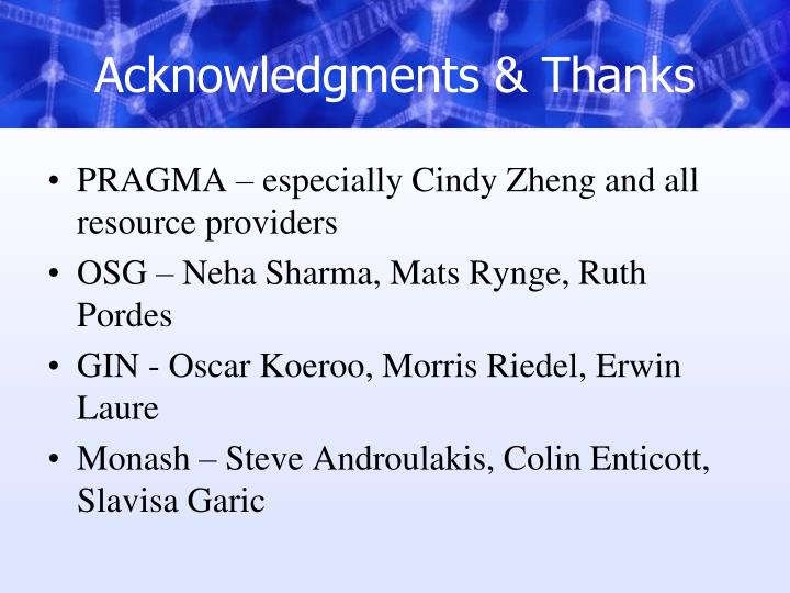 Acknowledgments & Thanks