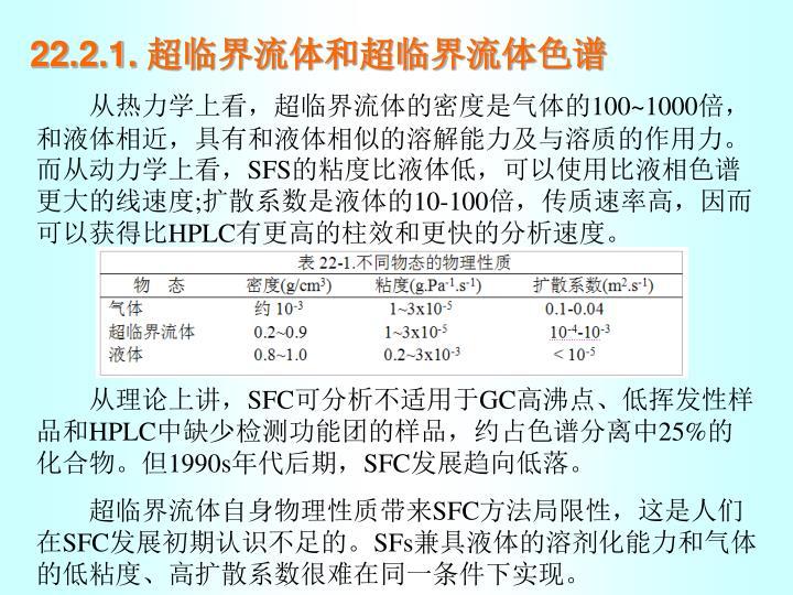 22.2.1. 超临界流体和超临界流体色谱