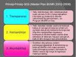 prinsip prinsip gcg master plan bumn 2002 2006