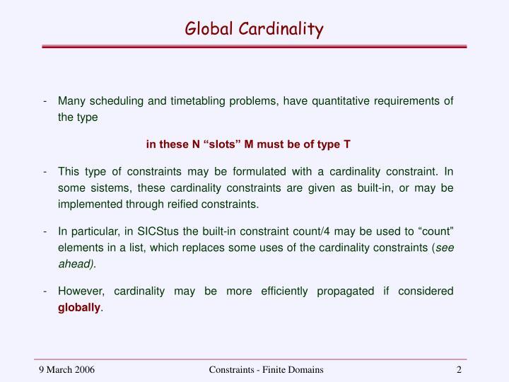 Global Cardinality
