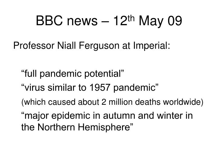 BBC news – 12