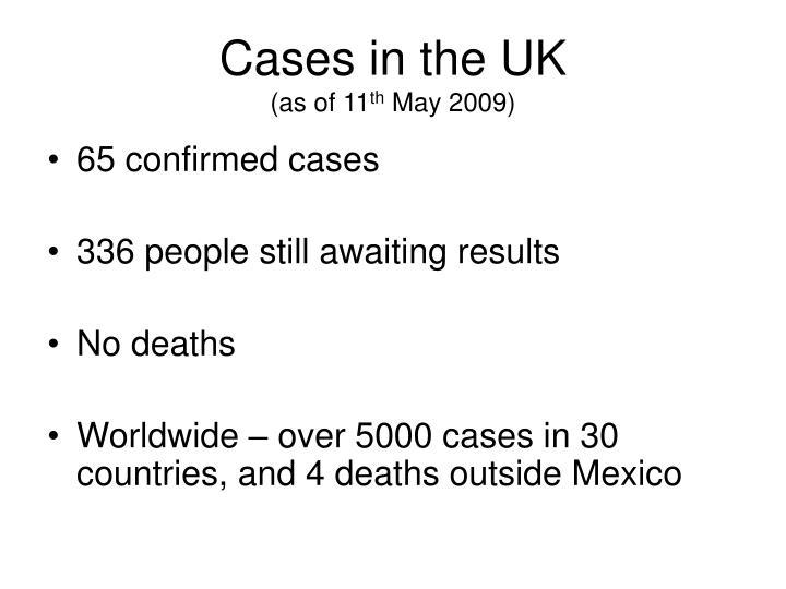 Cases in the UK