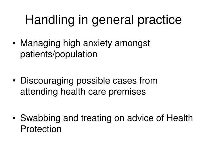 Handling in general practice