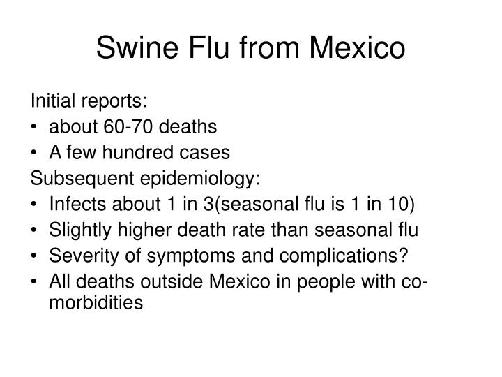 Swine Flu from Mexico