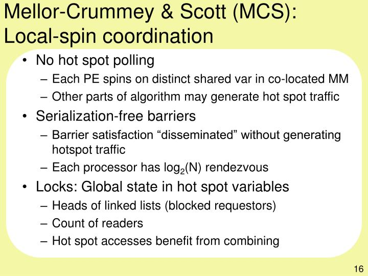 Mellor-Crummey & Scott (MCS):