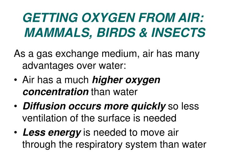 GETTING OXYGEN FROM AIR:
