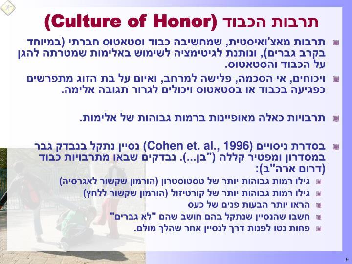 תרבות הכבוד