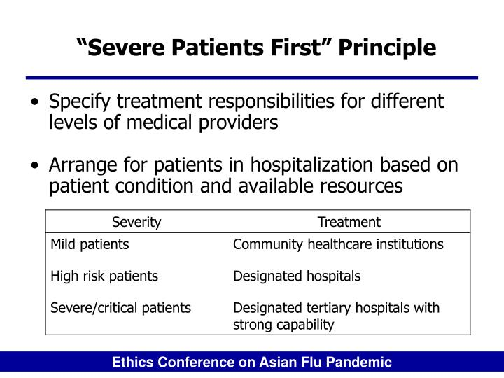 """Severe Patients First"" Principle"