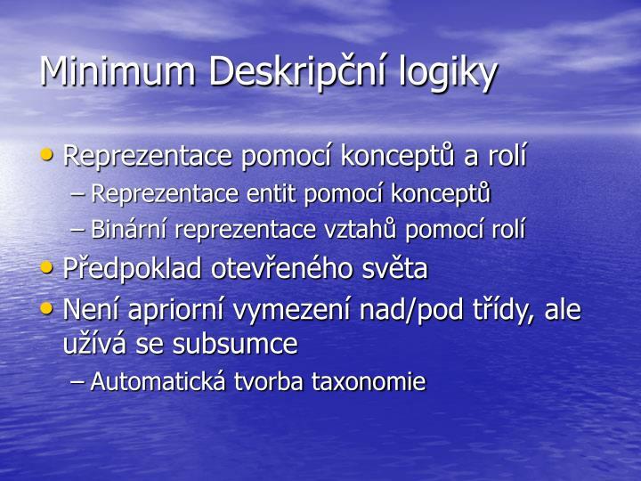 Minimum Deskripční logiky
