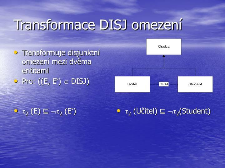 Transformace DISJ omezení