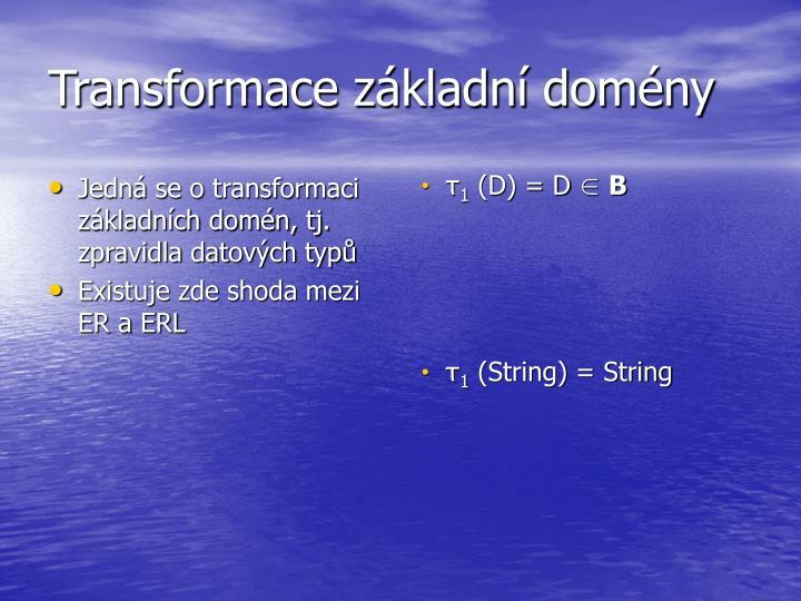 Transformace základní domény