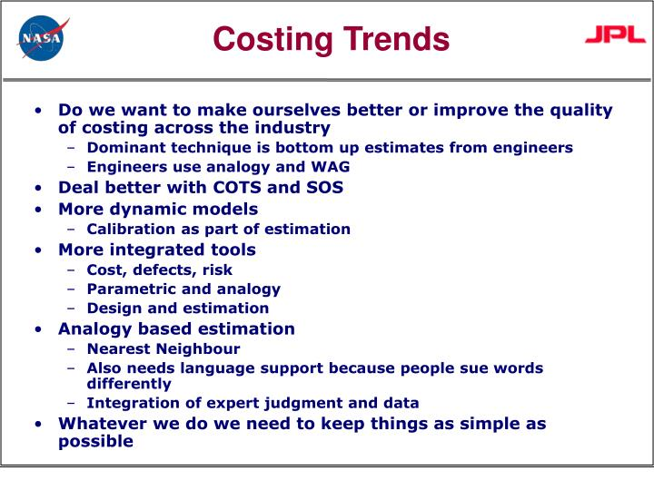 Costing Trends