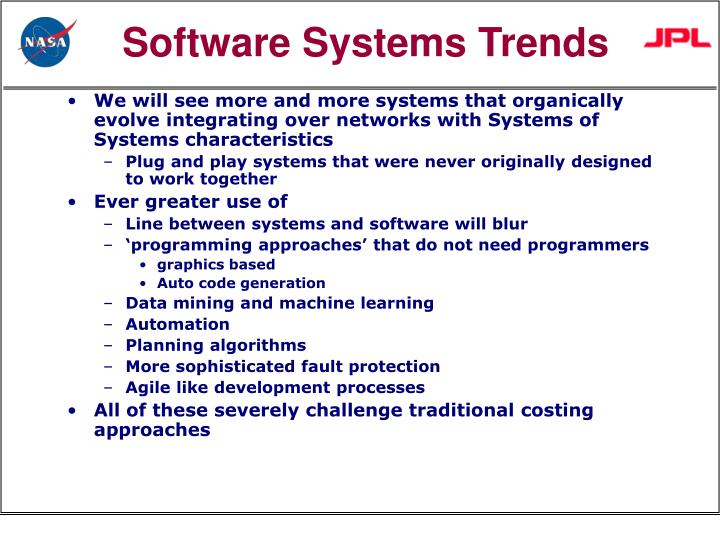 Software systems trends