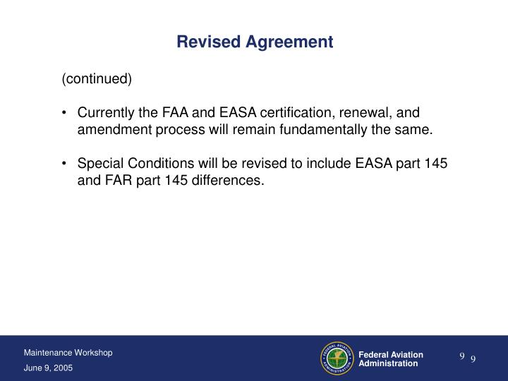 Revised Agreement