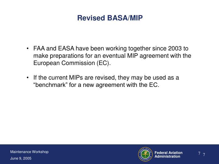 Revised BASA/MIP