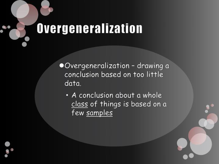 Overgeneralization