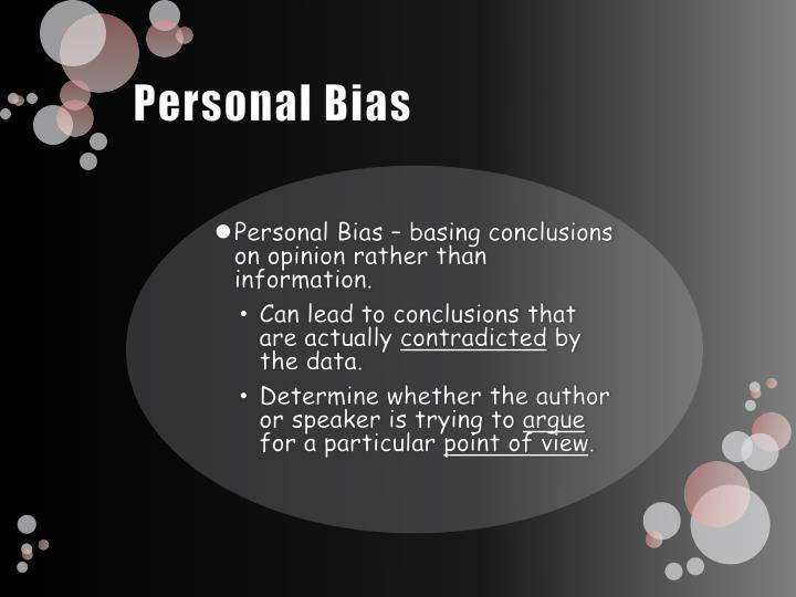 personal bias Exacttarget put out a great infographic that outlines all kinds of biases that we marketers carry exacttarget does excellent research and, i'm not just saying that because when i was at a one of their user conferences last year they gave me a free ticket to the katy perry concert.