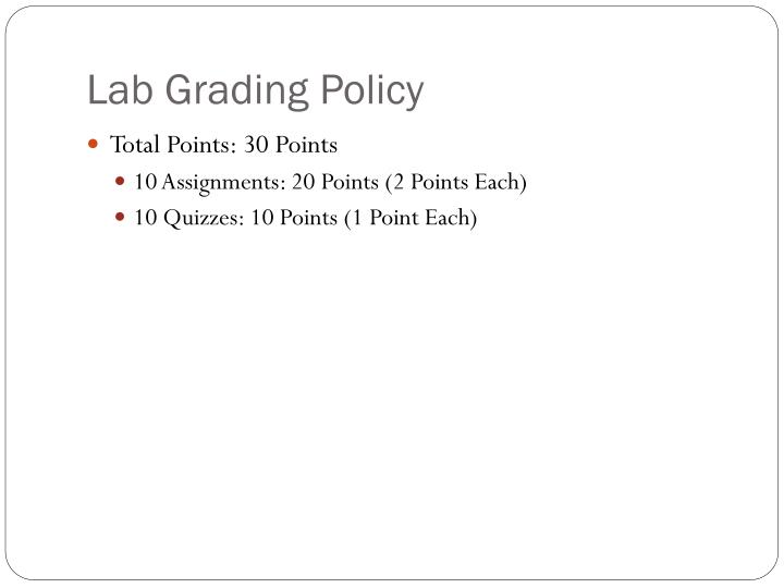 Lab Grading Policy