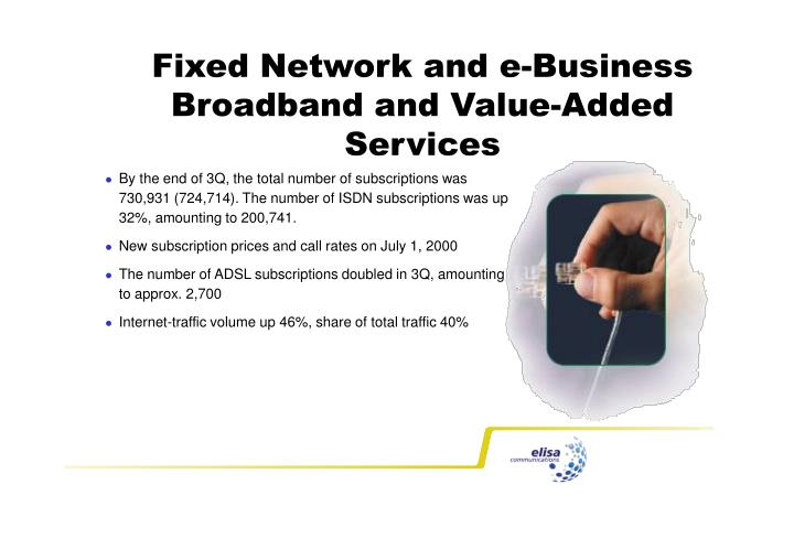 Fixed Network and e-Business