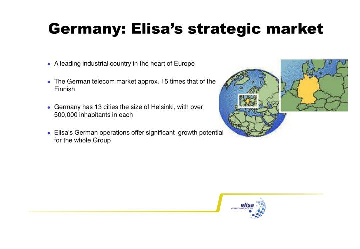 Germany: Elisa's strategic market
