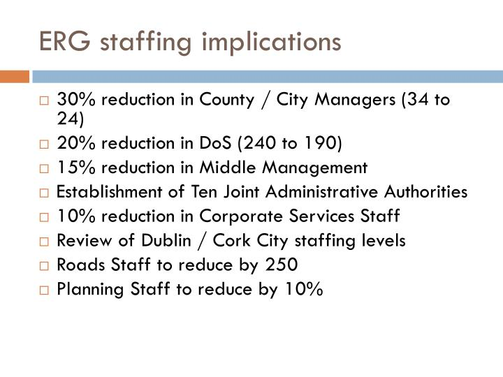 ERG staffing implications