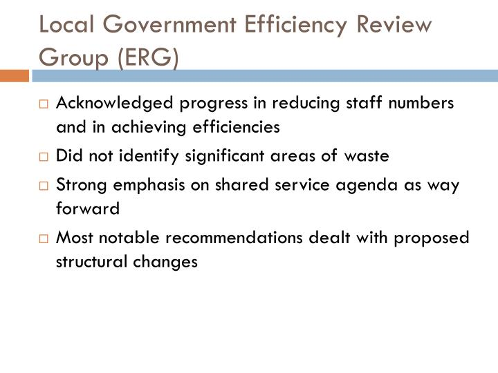 Local Government Efficiency