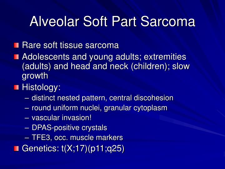 Alveolar Soft Part Sarcoma