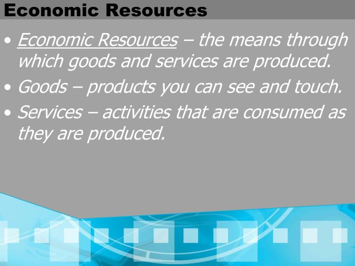Economic Resources