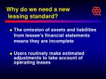 why do we need a new leasing standard4