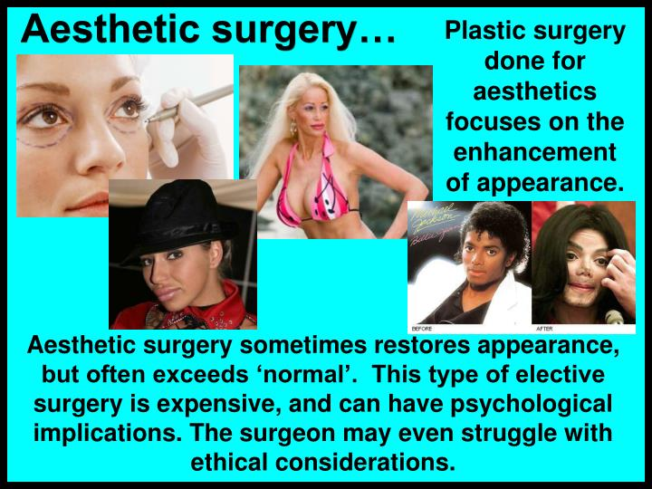 Aesthetic surgery…